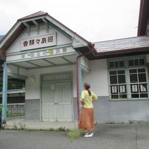 新島々駅舎横の旧島々駅舎と言う名の元島々駅舎