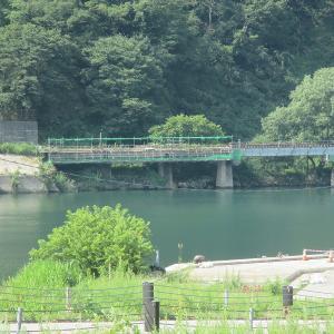 5年前と今 第七只見川橋梁、会津大塩