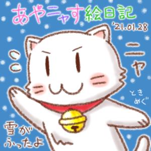 もくニャーびの雪だよタマにゃん!_210128