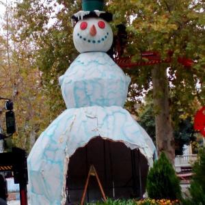 雪だるまがやってきた。muñeco de nieve