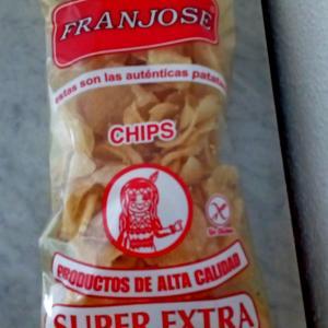Patatas fritas con sabor al ajillo アヒージョ味のチップス