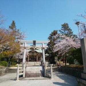 ★植田八幡宮と桜★