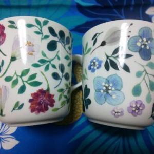 ★お気に入りの花柄マグカップ★