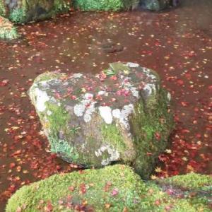 ★京都の紅葉-銀閣寺~ハート❤の石★