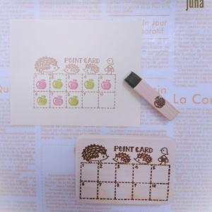 minneにUP♪★再販★pointカードはんこセット2種類
