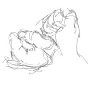 クロッキー (人体、手)