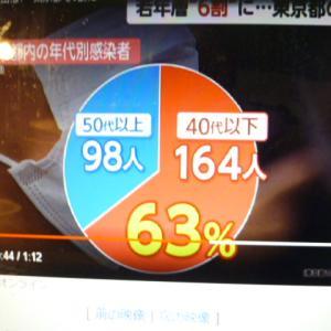 単純には言い表せな東京都区別感染者数