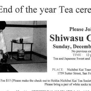 Shiwasu Chakai 師走茶会 2011 by Hokka Nichibei Kai Tea Society