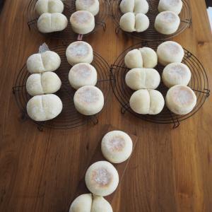 基本のレッスン第3章レーズン酵母①うぐいす豆のリュスティック②米粉のマフィン&白パン