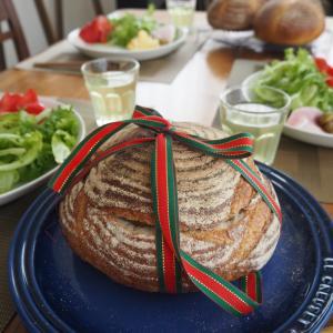 基本のレッスン第2章捏ねないホシノ③パン・ド・カンパーニュ④食パン