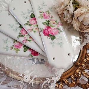 ★☆ ポーセリン 薔薇のドアプレート(ホワイト) ★☆