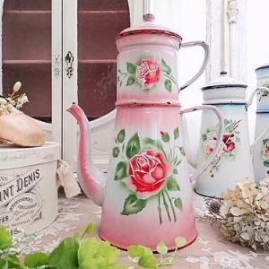 ★☆ レア ピンクのぼかしエナメル 薔薇のダブルビギン ★☆