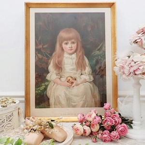★☆ 美術印刷額装 リンゴを持つ美少女 『イヴの娘』 ★☆