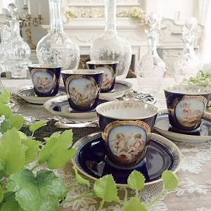 ★☆ セーヴルスタイル 天使のカップ&ソーサー ★☆