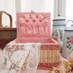 ★☆ ブドワール ピンクのキルティング メルスリーパニエ ★☆