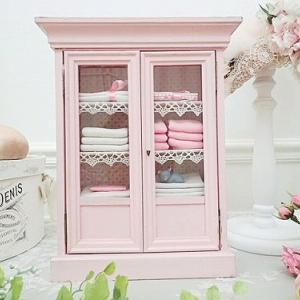 ★☆ ベビーピンクのドールキャビネット ★☆