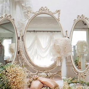 ★☆ プリンセスリボン装飾のドレッシングミラー ★☆