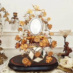 ★☆ 鳥と薔薇装飾のグローブ・ド・マリエ ★☆