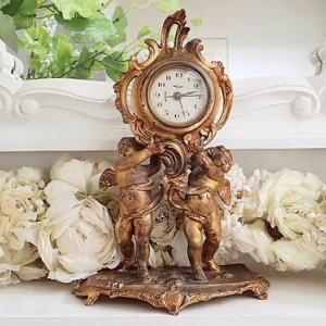 ★☆ ルイ15世スタイル 天使の置時計 ★☆