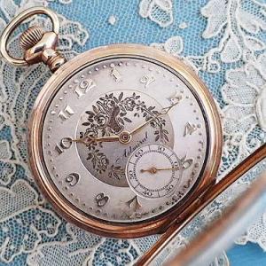 ★☆ レア 花かご装飾の懐中時計  ★☆
