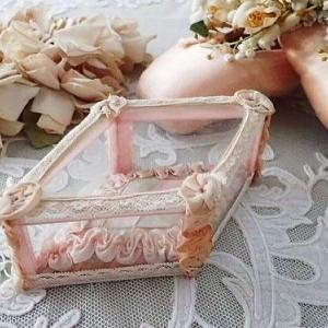 ★☆ ブドワール ピンクリボンのガラスボックス ★☆