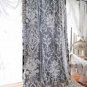 ★☆ 豪華 フランスコーネリー刺繍のレースカーテン  ★☆