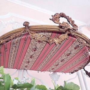 ★☆ 稀少 リボンと薔薇のガーランド天蓋ベッド飾り ★☆