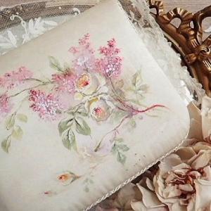 ★☆ 薔薇のブーケ 手彩色 シルクのカルトナージュ ★☆