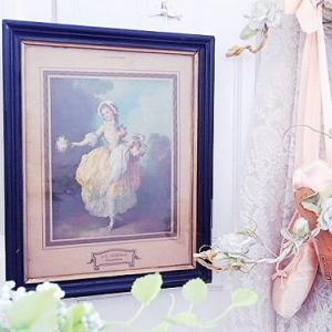 ★☆ 美術印刷額装 『花売りの美少女』 ★☆