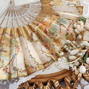 ★☆ 手彩スパンコール装飾 ロココ貴族の扇子 ★☆
