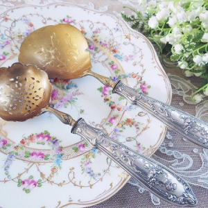 ★☆ 純銀 花かご装飾サーヴィングセット ★☆