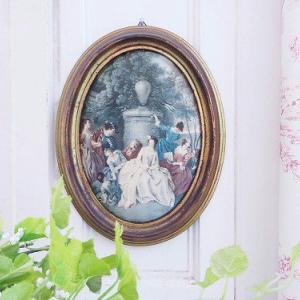 ★☆ シルクプリントフレーム『宮庭のひととき』 ★☆