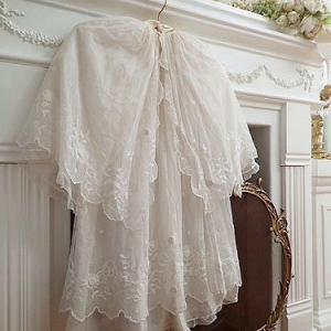 ★☆ 愛らしいリボン刺繍の洗礼ドレスセット  ★☆