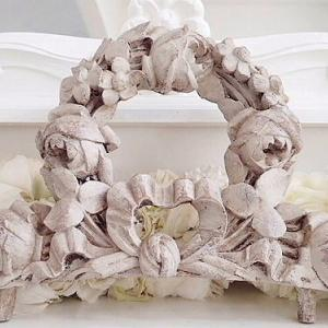 ★☆ アルモワール彫刻 薔薇のリース  ★☆
