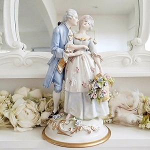 ★☆ カポディモンテスタイル 花かごを持つカップル ★☆