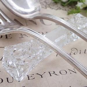 ★☆ クリスタルガラスのナイフレスト10本セット ★☆
