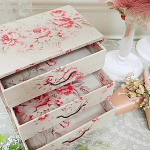 ★☆ ロマンティック 薔薇のカルトナージュドロワー ★☆