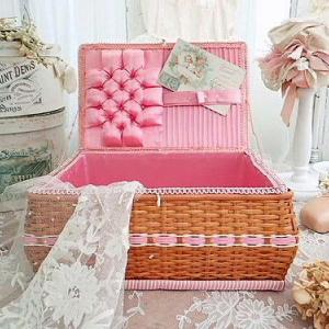 ★☆ メルスリー ピンクのキルティングお裁縫箱 ★☆