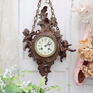 ★☆ 逸品 ロココ天使の掛け時計 ★☆