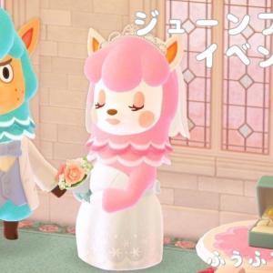 【あつ森】ジューンブライドイベントでリサとカイゾー登場!