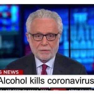 Alcohol kills coronavirus