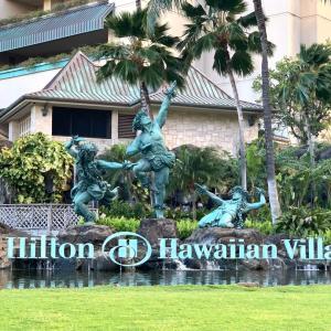 ヒルトンホテルからワイキキビーチ方面へお散歩