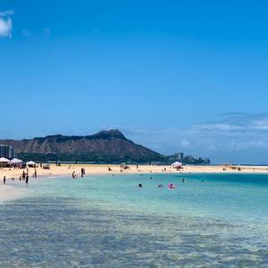 ハワイの三連休のアラモアナ・ビーチパーク