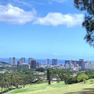 2カップルでプレイゴルフ@Oahu Country Club