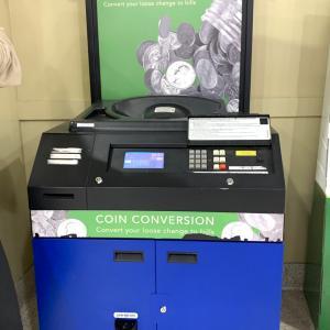 大量のコインを精算機に入れたら途中で停止してしまった!!