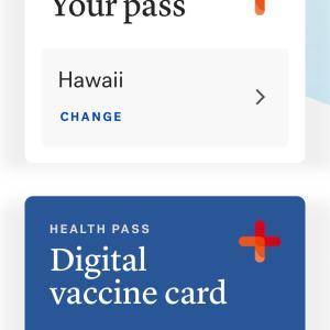 米本土に行く前にワクチン接種のアプリ入力