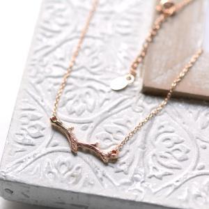 ✨新入荷✨Silver925ピンクゴールドプレーテッド製の枝珊瑚モチーフネックレス