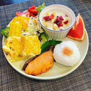 茄子、豚、ピーマン。富士吉田市。