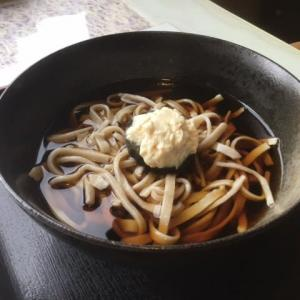 生湯葉かけ冷蕎麦