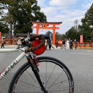 今日は やっぱりシクロクロスバイク 「ルイガノ号」 ~今日も賀茂川でトレーニング~